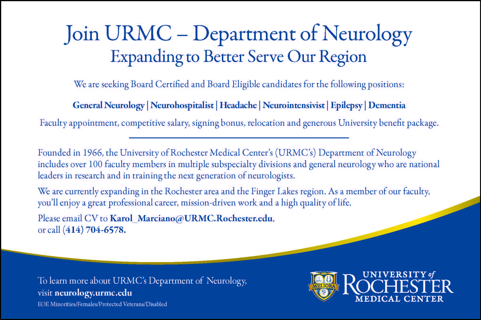 Job Postings | nysneurology